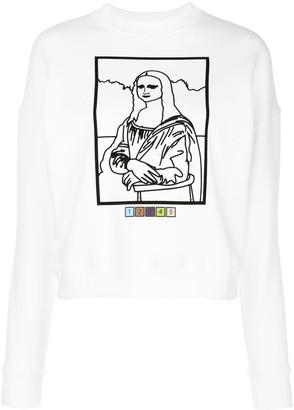 MAISIE WILEN Mona Lisa line-print sweatshirt