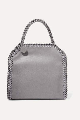 Stella McCartney The Falabella Tiny Faux Brushed-leather Shoulder Bag - Light gray