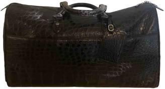 Ermenegildo Zegna Black Crocodile Bags