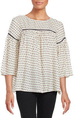 French Connection Geometric Top