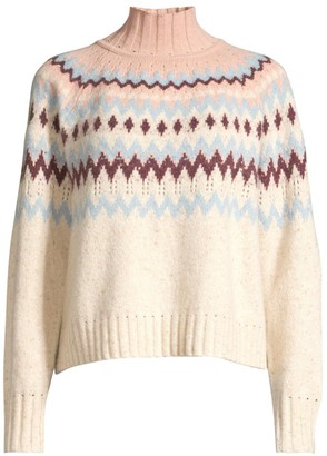 La Vie Rebecca Taylor Fairisle Wool-Blend Knit Sweater