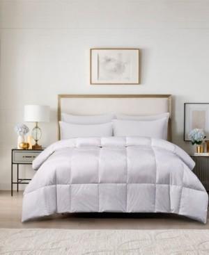 Blue Ridge 240 Thread Count Cotton White Goose Feather Down Maximum Warmth King Comforter