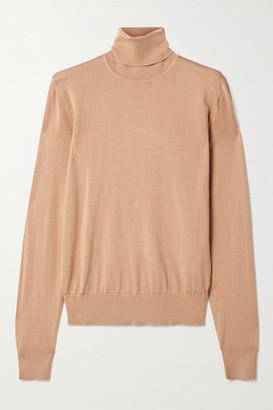 Dolce & Gabbana Cashmere And Silk-blend Turtleneck Sweater - Tan