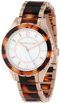 Kenneth Jay Lane Women's KJLANE-2209 Mother-Of-Pearl Dial and Brown Tortoise Resin Watch