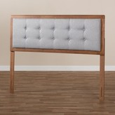 Poole Upholstered Panel Headboard George Oliver Size: Queen, Color: Light Gray