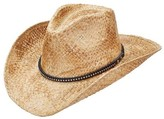 Scala Women's LR692 Pinch Cowboy Hat with Bling Trim