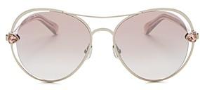 Jimmy Choo Women's Sarah Brow Bar Aviator Sunglasses, 56mm