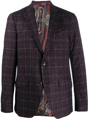 Etro Checked Single-Breasted Blazer