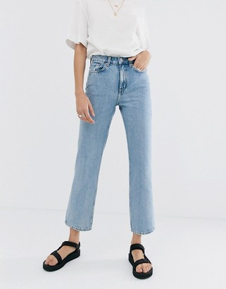Weekday Voyage organic cotton straight leg jeans in light blue