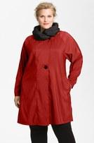 Mycra Pac Designer Wear Reversible Scrunch Neck Travel Coat (Plus Size)