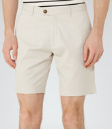 Reiss Reiss Wicker - Tailored Cotton Shorts In Brown