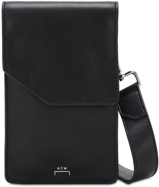 A-Cold-Wall* Logo Print Leather Crossbody Bag