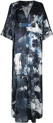 Märta Larsson Dunaway graphic-print silk maxi dress