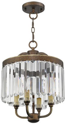 Livex Lighting Livex Ashton 4-Light Pbz Mini Chandelier/Flush Mount