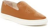 Soludos Embroidered Leather Platform Slip-On Sneaker