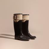 Burberry Trench Belt Detail Rain Boots