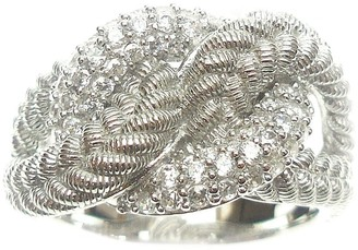 Judith Ripka Sterling Diamonique Twist Ring