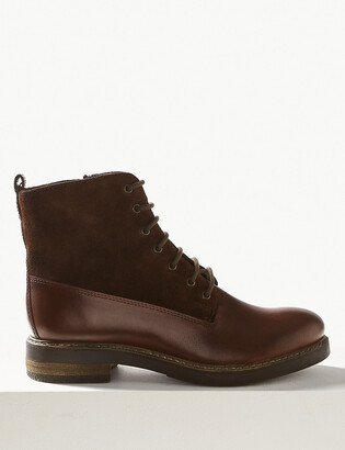 Marks and Spencer Leather Lace-up Ankle Boots