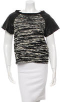 Alice + Olivia Short Sleeve Knitted Top