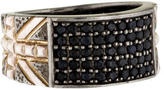 Stephen Webster Black Sapphire Union Jack Ring