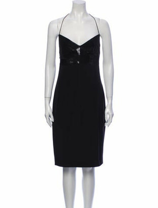 Narciso Rodriguez Silk Knee-Length Dress Black