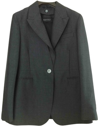 Gucci Anthracite Wool Jackets