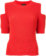 Aula cold shoulder jumper - women - Polyester - 0