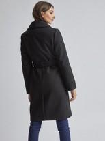 Dorothy Perkins Black Shawl Wrap Coat - Black