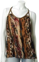 Rock & Republic Rock and republic feather embellished tank
