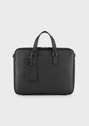 Giorgio Armani Full-Grain Calfskin Briefcase