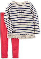 Carter's 2-Pc. Striped Cotton Tunic & Leggings Set, Toddler Girls (2T-4T)