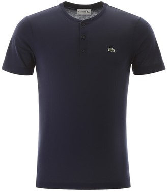 Lacoste henley t-shirt with logo patch