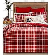 Martha Stewart Winter Tartan Red Plaid Twin Duvet Comforter Cover