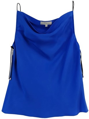 Not Blue Silk Tank With Elastic Bungee Cord Straps