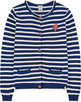 Scotch & Soda Striped wool blend cardigan