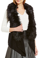 MICHAEL Michael Kors Faux-Fur Collar Sweater Vest