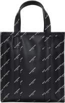 Balenciaga Black XS All Over Logo Bazar Shopper Tote