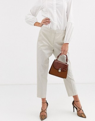 Vero Moda metallic suit trousers-Silver