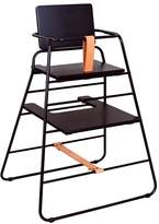 BUDTZBENDIX High Chair Towerchair - Black and Leather