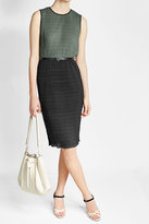 Max Mara Textured Dress with Leather Belt