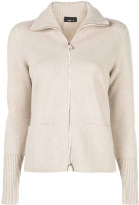 Akris cashmere zip knitted cardigan