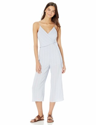 The Fifth Label Women's Coast Sleeveless Wrap Top Cropped Casual Jumpsuit