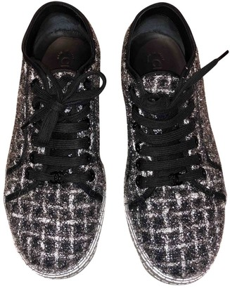Chanel Silver Tweed Trainers