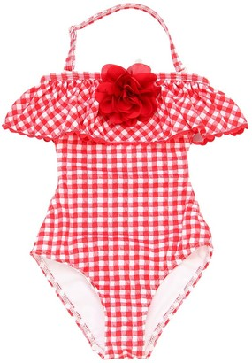 MonnaLisa Gingham Print Lycra One Piece Swimsuit