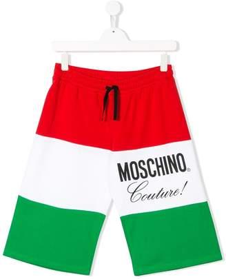 Moschino Kids colour-block drawstring shorts