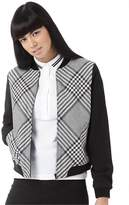 Fred Perry Womens Prince Of Wales Bomber Jacket Black