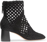 Sandro Aglais woven suede ankle boots