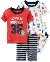 Carter's 4-Pc. Monster Snoozer Cotton Pajama Set, Baby Boys (0-24 months)
