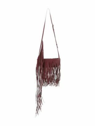 Calvin Klein Metallic-Trimmed Fringe Crossbody Bag w/ Tags Red Metallic-Trimmed Fringe Crossbody Bag w/ Tags