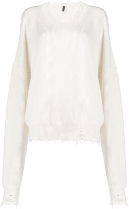 Unravel Project Distressed Ribbed Jumper